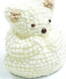 クマ白立体ケーキ誕生日