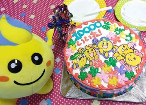 キャラクターケーキ誕生日