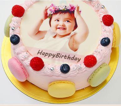 写真ケーキ6歳誕生日